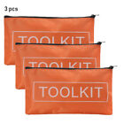 New Waterproof Orange Oxford Cloth Tool Bag Zipper Storage Instrument Case Pouch
