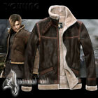RE4 RESIDENT EVIL 4 LEON KENNEDY Coat Cosplay Costume Mens Winter Warm Jacket