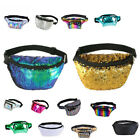 BUM BAG FANNY PACK SEQUIN SHINY TRAVEL HOLIDAY MONEY WALLET FESTIVAL BELT POUCH