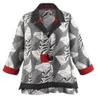 Women's Details Black and White Fashion Jacket - 3/4-Length Sleeves