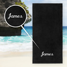 KAUFMAN-Beach Towel Free Name Embroidered Velour Personalized Pool Towel 30 X 60
