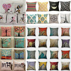 "Cotton Linen Pillow Case Sofa Couch Waist Throw Cushion Cover Home Decor 18x18"" image"