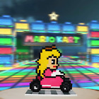 Mario Kart Princess Peach Stand Pixel Art 8-Bit Perler Beads Magnet SNES New