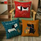 Decor Cushion Dog Car Cartoon 18'' Sofa Home Linen Case Cotton Pillow Cover