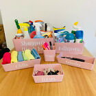Personalised PINK Home Storage Cleaning Basket Box Caddy Mrs Hinch Zoflora photo