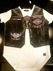 Harley-Davidson® Baby Girls' Printed-On Motorcycle Vest Newborn Creeper $15.99 USD on eBay