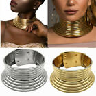 1pc African Jewelry Vintage Necklace Metallic Coil Adjustable Choker Maxi Collar