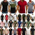 USA Men Summer Slim Fit Short Sleeve T Shirt Sports Muscle Casual Tee Shirt Tops image