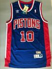 HOT Dennis Rodman Detroit Pistons Blue Throwback Swingman Stitched Jersey S-XXL
