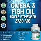 OMEGA-3 FISH OIL TRIPLE STRENGTH HIGH EPA DHA NON-GMO BY BRONSON $14.99 USD on eBay