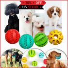 Pet Durable Rubber Ball Chew Dog Puppy Teething Dental Healthy Treat Clean Toy
