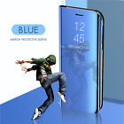 For Huawei PSmart/Y7 2019 Nova 4 Clear View Mirror Flip Stand Leather Case Cover