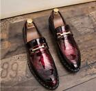 Chic Men Dress Formal Patent Leather Casual Pointy Toe Slip On Wedding Shoes New