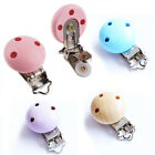Внешний вид - 5 X Baby Pacifier Clip Safety Wooden Teeth Accessories Soother Clasps Holders B