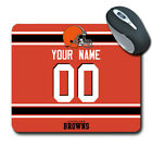 NFL Cleveland Browns Personalized Name/Number Mouse Pad 150709 $12.99 USD on eBay