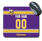 NFL Minnesota Vikings Personalized Name/Number Mouse Pad 152406 $14.99 USD on eBay