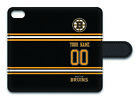 NHL Boston Bruins Personalized Name/Number iPhone iPod Wallet Case 162509 $17.99 USD on eBay