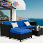 4pcs Weaving Rattan Sofa Furniture Set Outdoor Patio Garden Cushions Couch Us