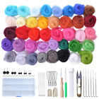 DIY Needles Felting Starter Kit Handcraft Mat Tools Felt Wool Fibre Roving Craft