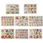 Alphabet  Numbers Wooden Peg Puzzles Baby Toddler Preschool Educational Toy US