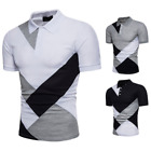 Fashion Men Slim Fit POLO Shirts Short Sleeve Casual Plain T-shirt Tees Tops image