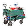 More images of Mac Sports Heavy Duty Steel Double Decker Collapsible Yard Cart Wagon, Green