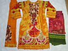 Maria B Linen Suit Embroidered stitched Winter  salwar kameez clearance £23