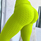 Women Ruched Push Up Leggings Yoga Pants Anti Cellulite Sports Scrunch Trousers