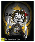 Pittsburgh Steelers NFL Curse Of Chucky Car Bumper Sticker Decal - 3'' or 5'' on eBay