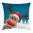 Christmas Theme Throw Pillow Cases Cushion Covers Home Decor 8 Sizes