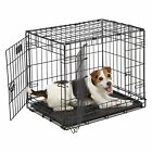 MidWest Homes for Pets Dog Crate | iCrate Double Door Folding Metal Dog Crates