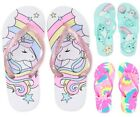 NWT The Childrens Place Unicorn Girls Flip Flops Sandals Shoes