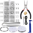 Jewellery Making Tool Kit Starter Tool Pliers Set Silver Beads Findings Threads