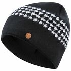Trespass Capaldi Mens DLX Fleece Knitted Beanie Hat With Merino Wool