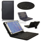 """For Samsung Galaxy Tab A A6 E 7"""" 8"""" 10.1"""" Tablet USB Keyboard Leather Case Cover"""