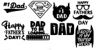 Set Of 8 X Dad Fathers Day Vinyl Decal Sticker For Mug Pint Glasses Gifts Crafts