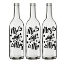 Mr And Mrs, Mr And Mr Or Mrs And Mrs Vinyl Decal Stickers For Wine Bottles
