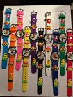 CHILDREN CHARACTER WATCHES-- 1 PC-- MARIO --YOU CHOOSE BAND COLOR BELOW