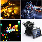 100 200 LED Solar String Fairy Light Garden Outdoor Christmas Party Decoration