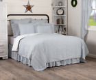 SAWYER MILL BLUE TICKING STRIPE QUILT -choose size & accessories- Farmhouse VHC image