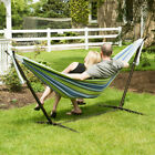 Swing Hammock Hanging Chair Seat Garden with Metal Frame Folding Stand Outdoor