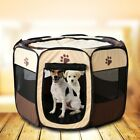 Pet Cat Dog Soft Crate House Playpen Tent Portable Exercise Fence Kennel Cage US