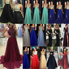 Women Formal Wedding Bridesmaid Evening Party Ball Prom Gown Long Sequins Dress