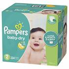 Pampers Baby-Dry Disposable Diapers Size 2 (12-18lbs.) *Free 2 day shipping