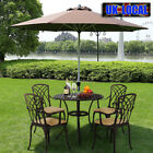 Cast Aluminium Patio Set Metal Garden Furniture Table And Chairs With Cushions