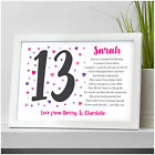 13th 16th 18th 21st 30th 40th PERSONALISED Birthday Poem Gifts for Her Girls