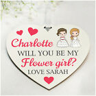Will You Be My Flower Girl Bridesmaid Maid of Honour PERSONALISED Proposal Gifts