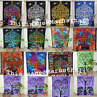 Life Of Tree Tapestry Hippie Twin Wall Hanging Throw Indian Decor Bedspread Art