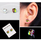 1pair crystal weight loss magnetic earrings health magnet non-pierced  ear stuJB