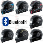 TORC T14B FULL FACE MOTORCYCLE DUAL VISOR HELMET MAKO DOT WITH BLUETOOTH